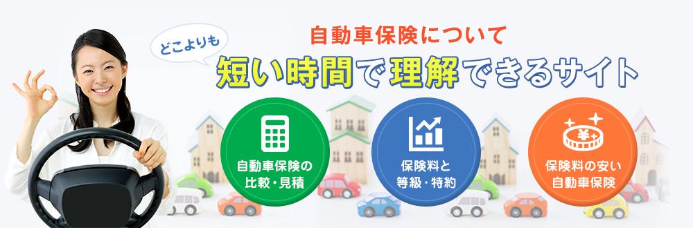 自動車保険について どこよりも 短い時間で理解できるサイト 自動車保険の比較・見積もり 保険料と等級・特約 保険料の安い自動車保険